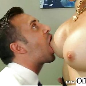 Busty Office Chick (rhylee richards) Bang Hard Style At Work clip-26
