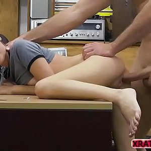 Kiley Jay gobbles Shawns bigcock for cash